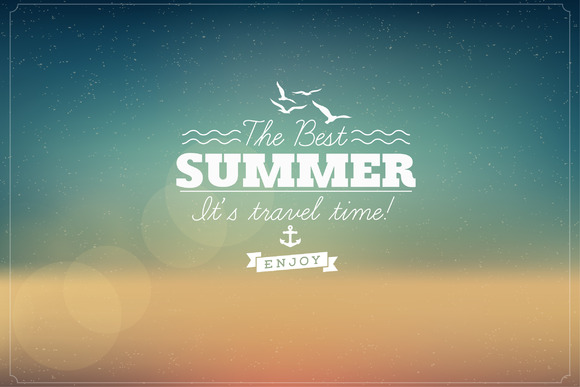 Summer Typographic Vintage Card