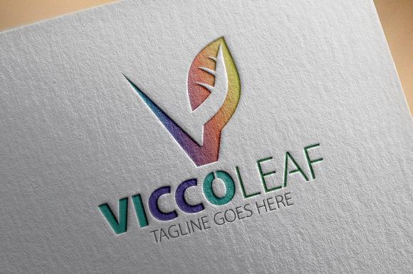 Vicco Leaf V Letter Logo