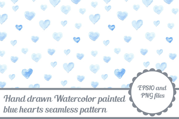 Watercolor Seamless Pattern Hearts