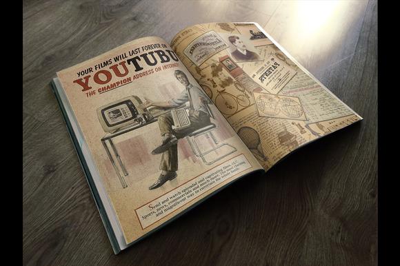 Photorealistic Vintage Magazinw