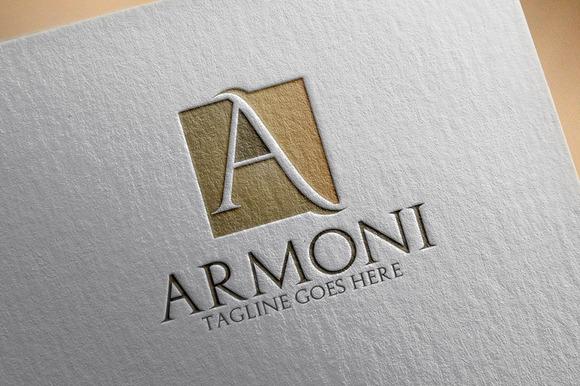 Armoni A Letter Logo