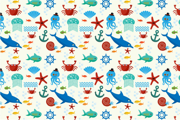Underwater And Sea Animals Pattern