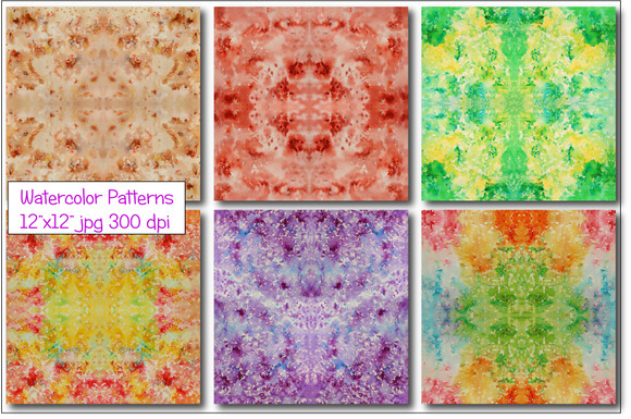 Watercolor Pattern Red Seamless