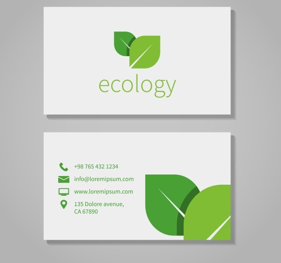 Eco Company Business Card Template