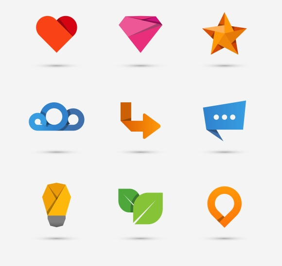 Modern Flat Paper Icons