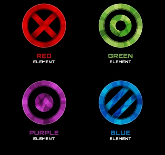 Circle Cross And Dot Logo Designs