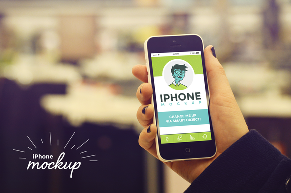 Shopping IPhone Mockup