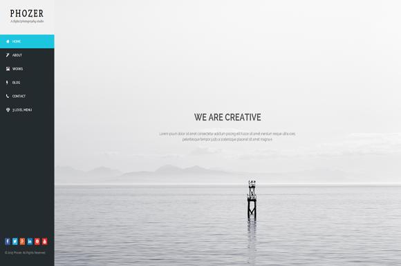 Phozer Photography HTML5 Template