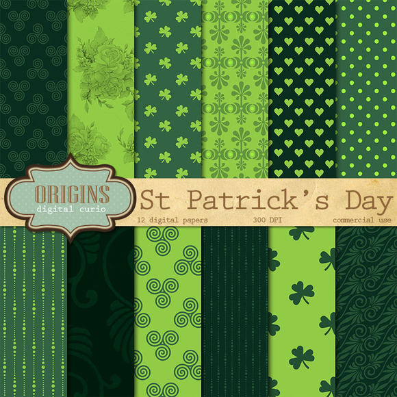St Patricks Day Digital Paper