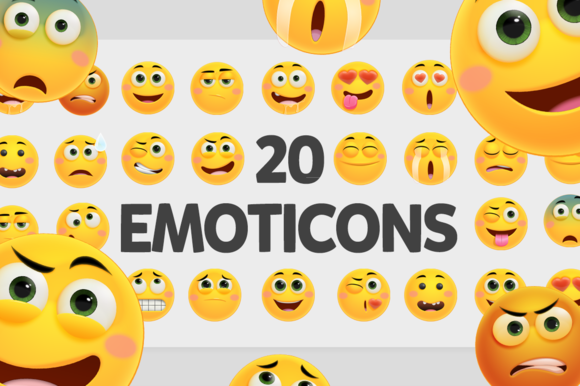 20 Friendly Vector Emoticons