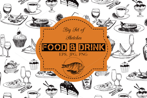 Food And Drink Sketches