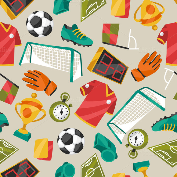 Soccer Seamless Patterns