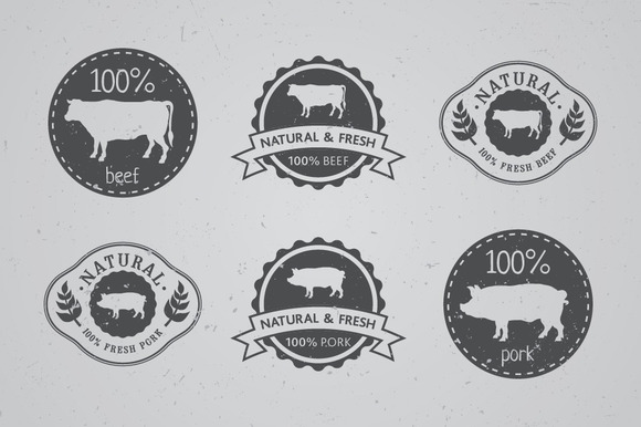 100% Meat Labels