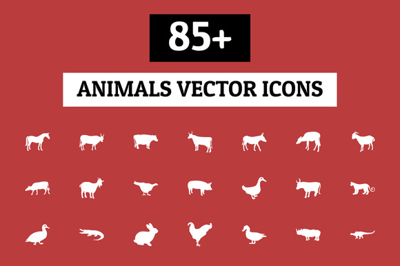 85 Animals Vector Icons