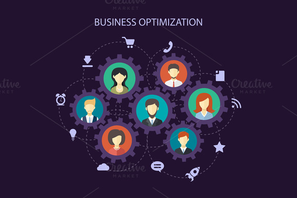 Abstract People Business Composition