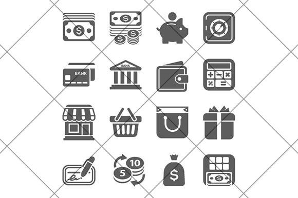 Money Finance Shopping Icons