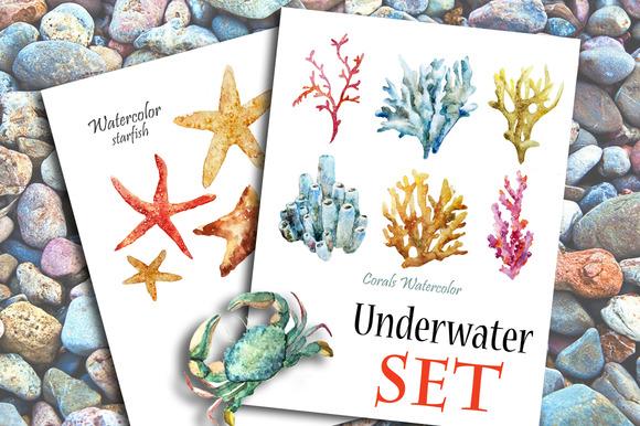 Watercolor Underwater Set