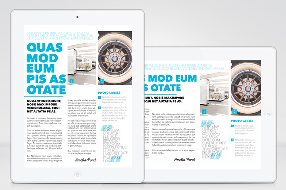 IPad Magazine InDesign Template