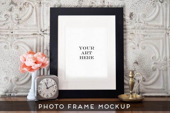 Realistic Photo Frame Art Mockup #3