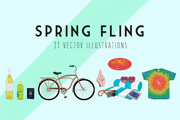 Spring Fling Illustration Kit