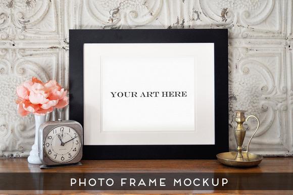 Realistic Photo Frame Art Mockup #4