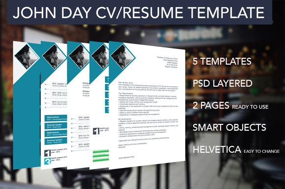 5 Multipurpose Resume CV Templates