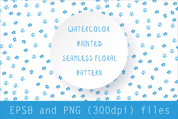 Watercolor Floral Seamless Pattern