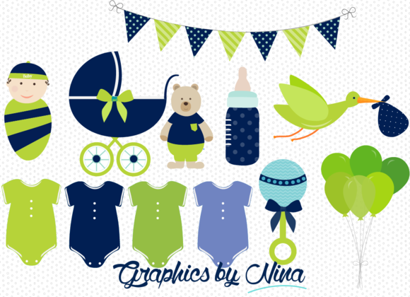 Boy Baby Shower Clipart