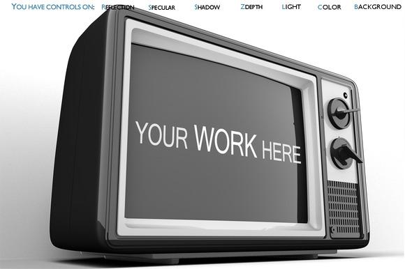 Old Tv Mock Up