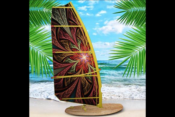Realistic Windsurf Mock Up