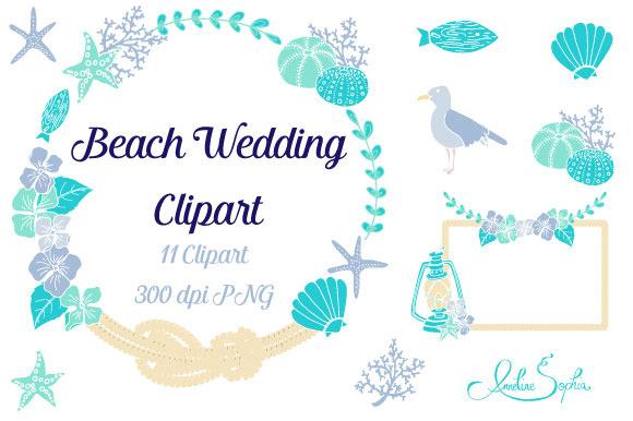 Beach Wedding Clipart