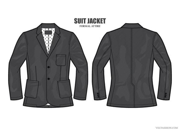 Men Formal Suit Jacket Vector