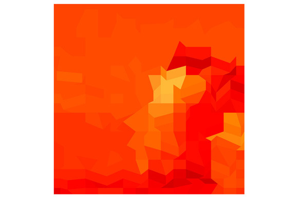 Red Robot Abstract Low Polygon Backg