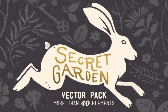 Secret Garden Vintage Vector Pack
