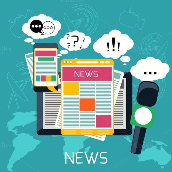 Mass Media Concept News Radio