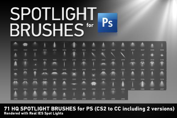 71 HQ Spotlight Brushes For PS