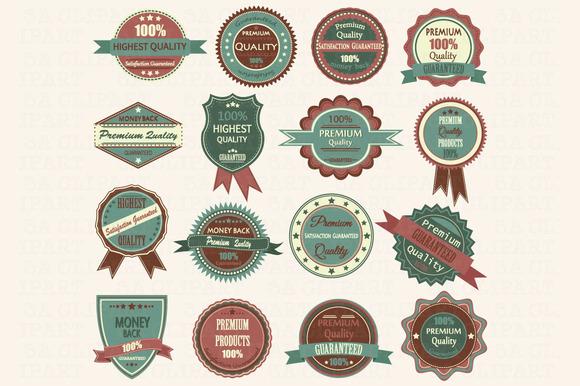 Vintage Badge Label Frame ClipArt