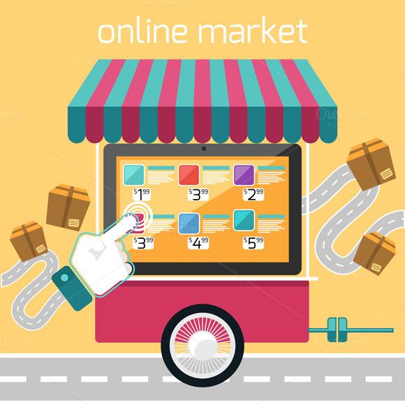 Internet Shopping Concept Smartphone