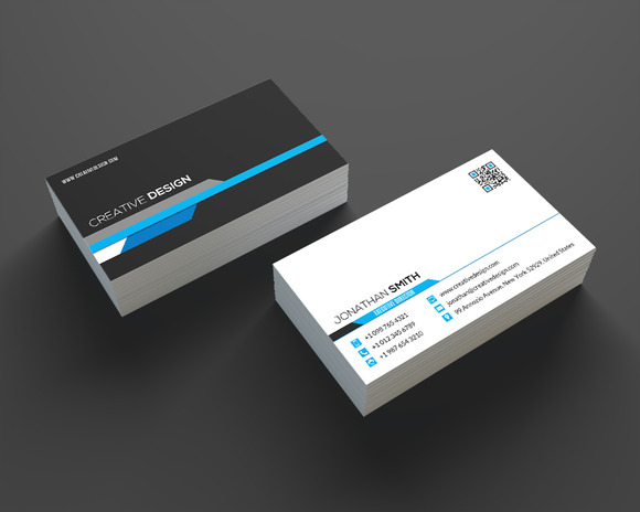 Modern Corporate Business Card SE334