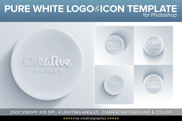Pure White Logo Icon Template