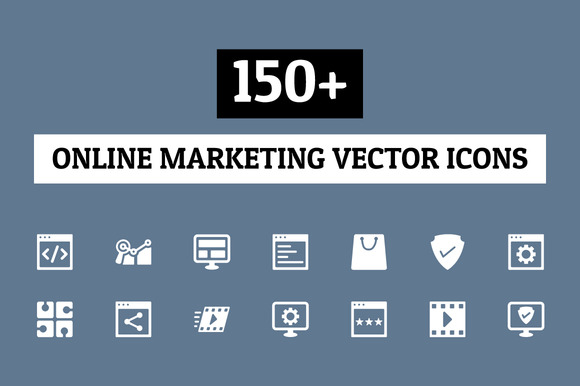 150 Online Marketing Icons