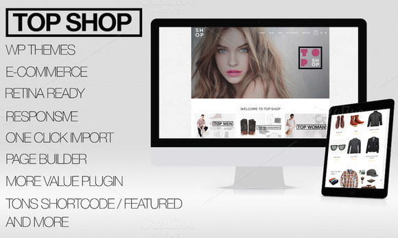 TOP SHOP E-COMMERCE WORDPRESS THEMES