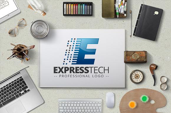 Express Tech Logo Template