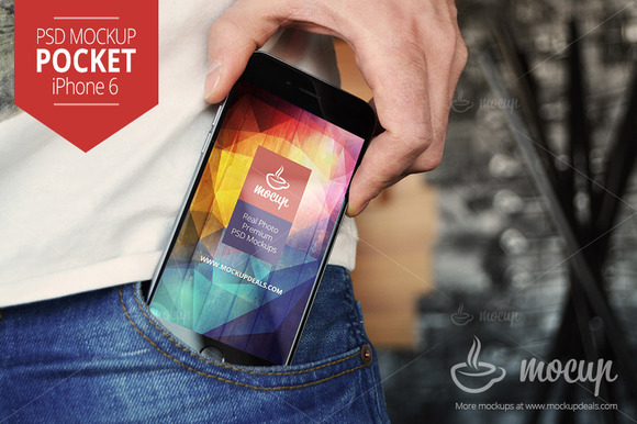 IPhone 6 PSD Mockup Pocket