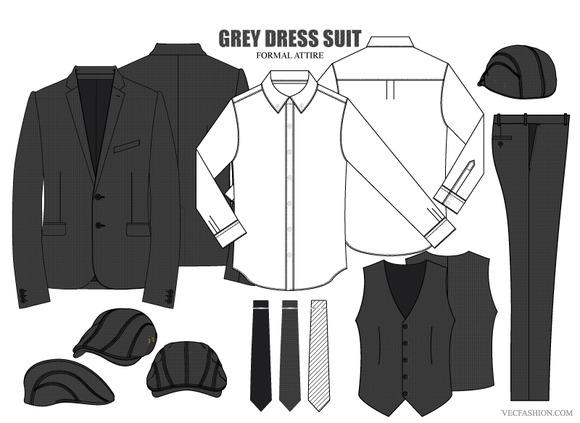 Men Dress Clothing Fashion Set