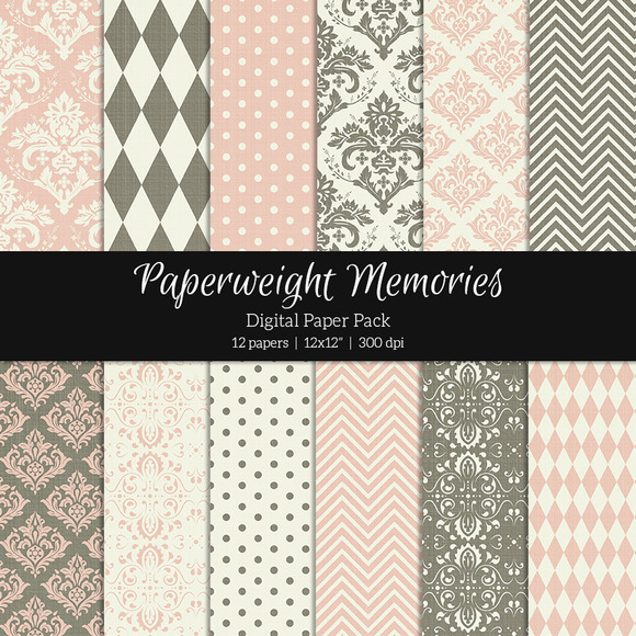 Patterned Paper Antique Wallpaper