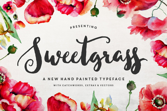 25% OFF Sweetgrass Typeface
