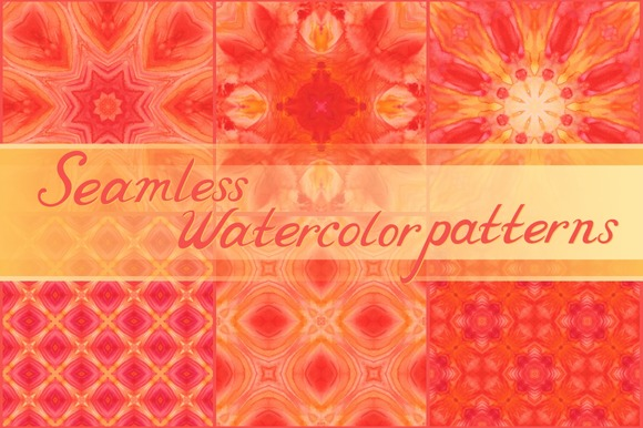 20 Seamless Watercolor Ornaments