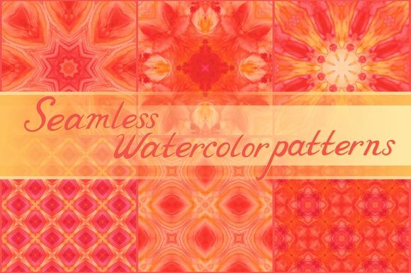 20 Seamless Watercolor Ornaments