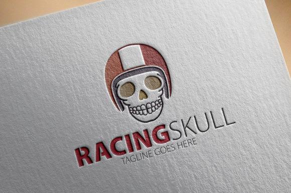 Racing Skull Logo